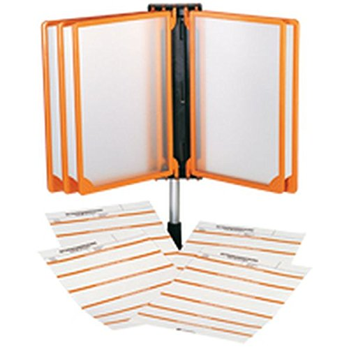 LEMAX® Klapprahmen für Betriebsanweisungen, orange,DIN A4,20 blanko Betriebsanweisungen