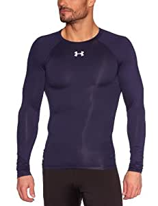 Under Armour HG Sonic T-Shirt manches longues Homme Midnight Navy/White FR : M (Taille Fabricant : MD)