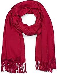172f0541ae93 styleBREAKER Écharpe unie douce avec des franges, châle d hiver, étole,  foulard