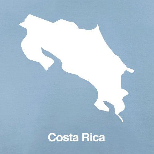 Costa Rica / Republik Costa Rica Silhouette - Herren T-Shirt - 13 Farben Himmelblau