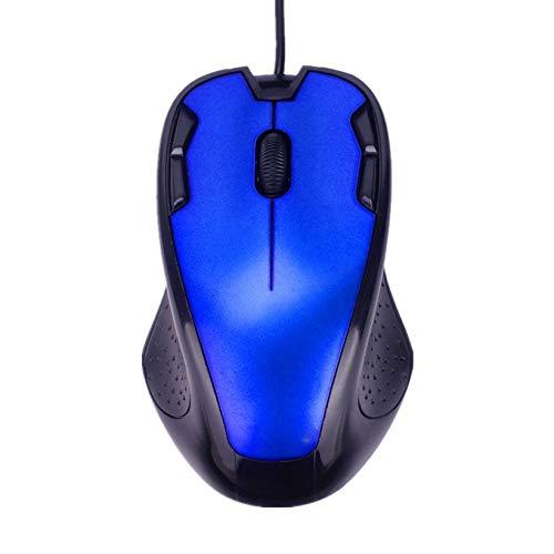 Blau Wired Optical Mouse (GMZRR Hochwertige Maus Luxus Wired Mouse 1800 DPI USB -Blau Schwarz Rot Orange Optical Gaming Mäuse Office-Qualitäts -Maus für PC Laptop Notebook leicht und flexibel Einfach zu bedienen und Nicht s)