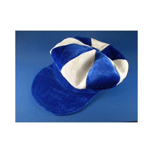 Kostüm Jockey Pferderennen - Königsblau Blau & Weiß Schiebermütze Neuheit Jockey Kostüm Hut Pferderennen
