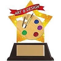 Emblems-Gifts - Placa de acrílico (Personalizable, 100 mm, diseño de miniestrellas, tamaño Personalizable)