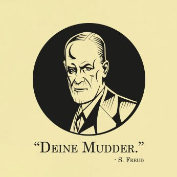 TEXLAB - Deine Mudder Freud - Langarm T-Shirt Weiß