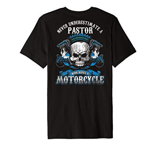 Pastor Biker Who Rides A Motorrad Shirt Skull Babe