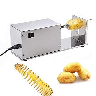 SucceBuy 220V/50Hz Coupe-Pomme De Terre INOX Trancheur De Fruit Coupe-Frites