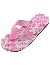 Damen Camo Hausschuhe Flip-Flops Frauen Sommer Flip Flops Schuhe Sandalen Slipper Indoor & Outdoor Flip-Flops (Rosa, 36)