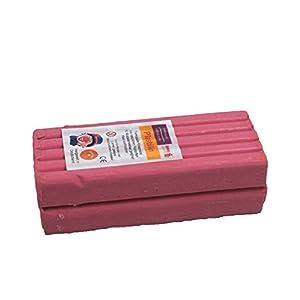 Stellwag 100245-de modelar Plastilin, 1000g, Color Rosa