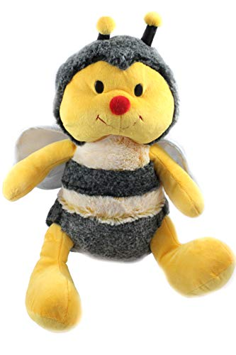 Unbekannt Plüsch Biene, Hummel, Glitzer Flügel Kuscheltier, gelb schwarz, 33 cm, (2800851)