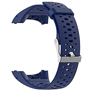 Replacement Strap Soft Silicone Sport Watch for for Polar M400 M430 for Women Men (Blue)