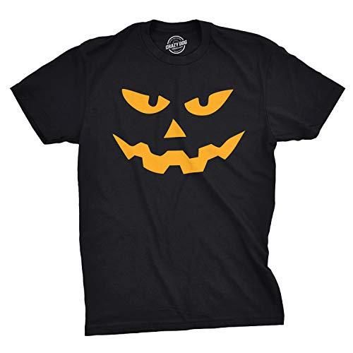 Mens Triangle Nose Pumpkin Face Funny Fall Halloween Spooky T Shirt (Black) - XL - Herren - XL ()