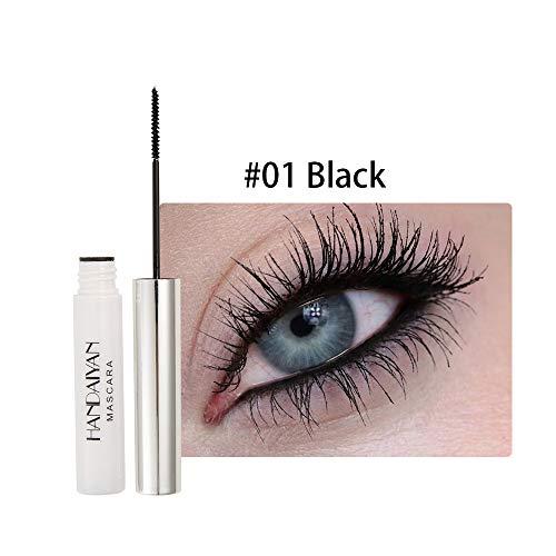 4D Wimperntusche Mascara, 4D Silk Fiber Wimperntusche, Mascara Wasserfest 12 Farben, Not Blooming, Langlebige und dickere Wimpern, ungiftige hypoallergene Formel -