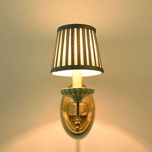 Zichen Moderne Reinkupfer Wandleuchte Einfache Wandleuchte for Bad Schlafzimmer Keramik Innenbeleuchtung Lampe Wohnzimmer Wandleuchte Kreative Leuchten Beleuchtung Schlafzimmer Leuchte Nachttischleuch -