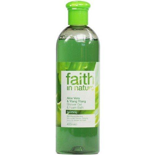 (2er BUNDLE)   Faith in Nature Aloe Vera & Ylang Ylang Shower Gel & Foam Bath 400ml   400ml - Faith in Nature