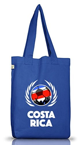 Wappen Fussball WM Fanfest Gruppen Jutebeutel Stoffbeutel Earth Positive Fußball Costa Rica Bright Blue
