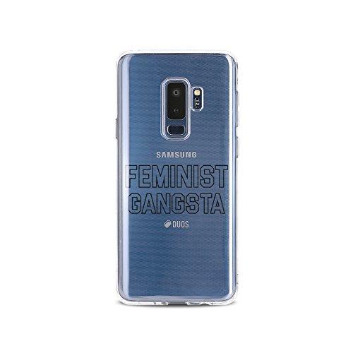 licaso Handyhülle für S9 Plus aus TPU mit Feminist Gangsta Print Design Schutz Hülle Protector Soft Extra