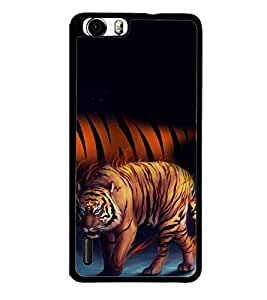 PrintVisa Designer Back Case Cover for Huawei Honor 6 Plus (Angry Tiger With Blue Eyes)