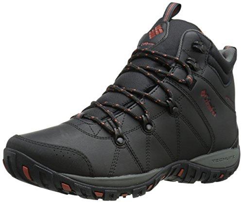 Columbia PEAKFREAK VENTURE MID WATERPROOF OMNI-H, Scarpe da trekking medio uomo, Nero (Black/Sanguine 010), 42 EU