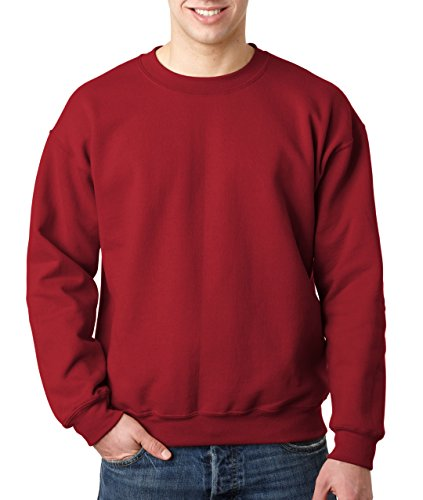 Gildan Heavy Blend Unisex-Erwachsene Crewneck Sweatshirt Gr. Large, kardinalrot (Baumwolle Hohe Pullover Crewneck)