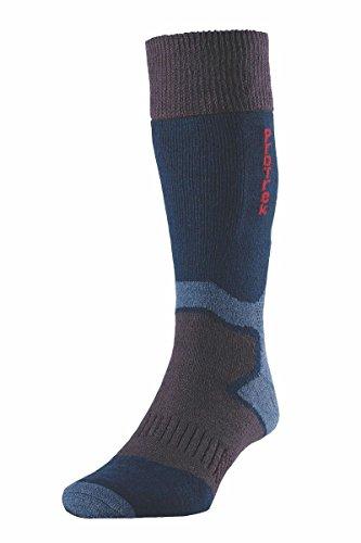 HJ Hall HJ Protrek Challenger Chaussettes en Laine mérinos | | | Support de Voûte d'orteil Confort | Complet Terry Bleu Bleu Roi Large: 9-11 UK | 43-46 EU