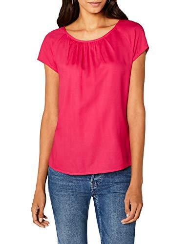 Street One Damen Bluse Felia, rosa (Carribean pink 11293), 36