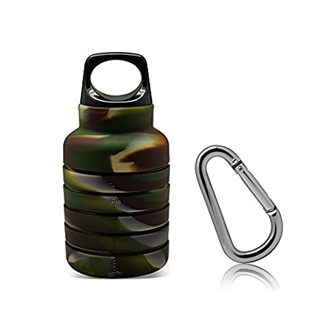 ThinsGO Foldable water bottle, Collapsible portable leak-proof silicone kettle,Lightweight Eco-Friendly