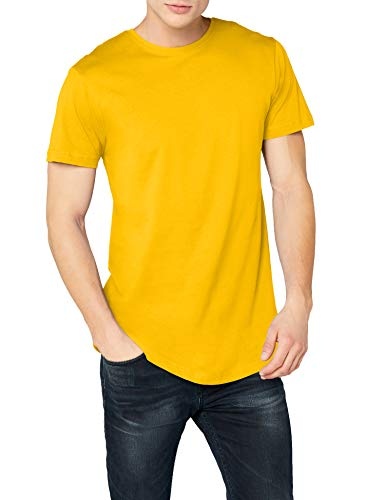 Urban Classics Herren T-Shirt Shaped Long Tee TB638, Gelb (chrome yellow), S