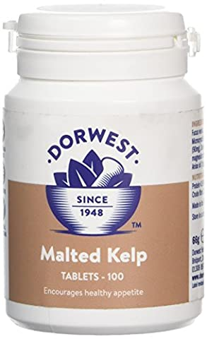 Dorwest Herbs Malted Kelp Tablets for Dogs and Cats 100
