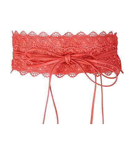 Krisp Damen-Taillengürtel, zum Selbstbinden Selbstknoten eine Größe passend für alle, Pink - Rosa (Liso) - Größe: One Size