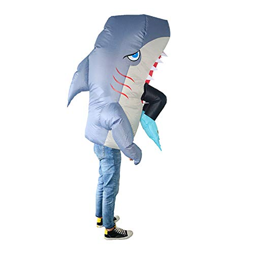 LOVEPET Mann-Essen Haifisch Cosplay Dress Up Aufblasbare Kleidung Partei Parodie Kostüm Requisiten Kreatives Spielzeug Maskerade Requisiten (Haifisch Mann Essen)