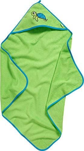 Playshoes Kinder Frottee Kapuzen-Handtuch, praktisches Kapuzentuch für Jungen, mit Schildkröten-Stickung