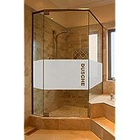 Folie Sichtschutz Aufkleber Glasdekorfolie Bad Dusche Duschwand Badezimmer Glasdekor GD34 Höhe ca. 50 cm