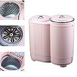 QHGao Mini Potente Disidratazione Macchina Portatile di Lavaggio Automatico, Doppia Lavatrice Asciugatrice, Potente Rotazione Ciclo, Compatta Macchina Doppia Vasca di Lavaggio