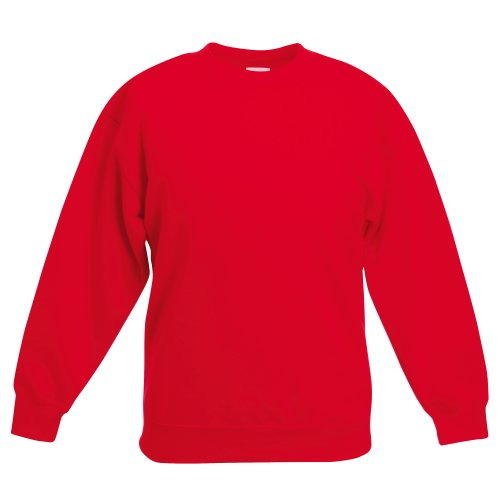 Fruit Of The Loom Kinder Unisex Pullover Klassik 80/20 (12/13 Jahre) (Rot)