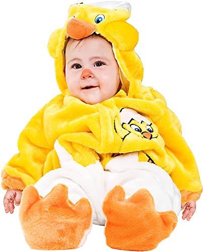 Costume di carnevale da dolce pulcino vestito per neonato bambino 3-12 mesi travestimento veneziano halloween cosplay festa party 88083 taglia 9-12
