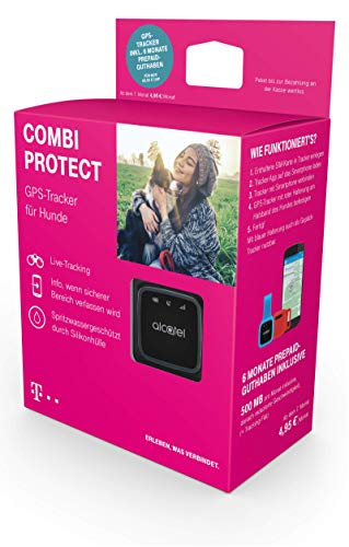 Telekom Hundetracker mit GPS, Tracker zur Ortung für Hunde und Wertsachen, inkl. 6 Monate Prepaid-Guthaben 5 GB
