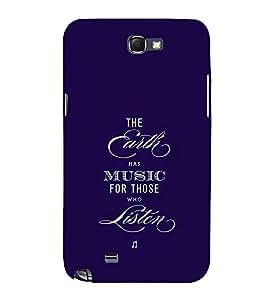 FUSON Earth Music Listen 3D Hard Polycarbonate Designer Back Case Cover for Samsung Galaxy Note 2 :: Samsung Galaxy Note Ii N7100