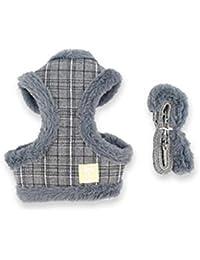 Ropa para Mascotas,Gusspower Chaleco Rayas para Mascota Ropa de Abrigo Chaqueta Invierno cálido cómodo para Mascota Arnés de Perro pequeño +Cuerda de tracción
