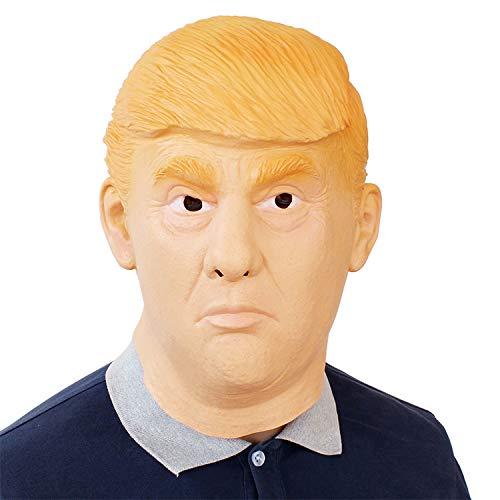 Kostüm Partei Politische - RENS Donald Trump Mask - Lustige Latex-Vollmaske - Neuheit Großes Politisches Geschenk