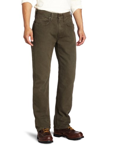 Carhartt Herren Weathered Duck 5 Pocket Hose im Relaxed Fit, W30/L32, dark coffee, 1 - Relaxed Fit Utility Pant