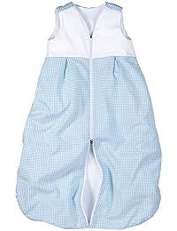 Babyschlafsack Frottee gefüttert in hellblau Vichykaro