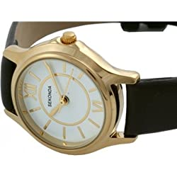Sekonda Ladies Leather Strap Watch With Whit Dial 4023