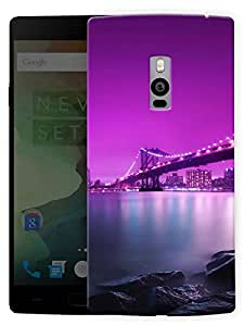 "Humor Gang New York Bridge At Night Printed Designer Mobile Back Cover For ""OnePlus Two"" By Humor Gang (3D, Matte Finish, Premium Quality, Protective Snap On Slim Hard Phone Case, Multi Color)"