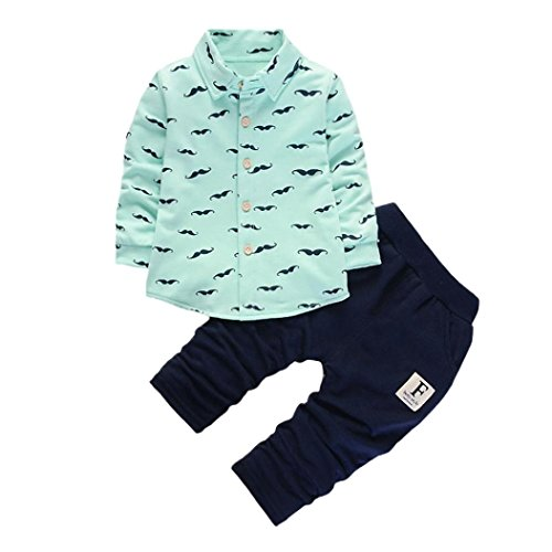 Babykleidung,Sannysis 2pcs Niedlich Neugeborenen Kleinkind Baby Jungen Kleider Set Tops + Hosen Outfits 12-36Monat (S, (Outfit Pfeil Grüner)