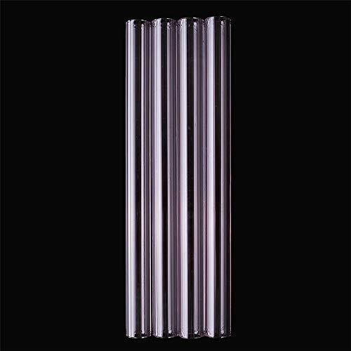 ExcLent 4Pcs 150Mm Transparent Purple Borosilicate
