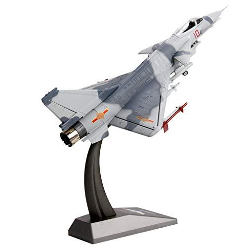ZXJwanJ Erwachsenes vorbildliches Spielzeug, Simulationsflugzeug-Modell statischer Kämpfer-Modell-Andenken/Verzierungen/Geschenke/Handwerk/Feiertagsgeschenke (Farbe : Gray)