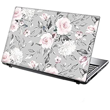 TaylorHe 15.6 inch 15 inch Laptop Skin Vinyl Decal with Colorful Patterns and Leather Effect Laminate MADE IN England Rose Watercolour