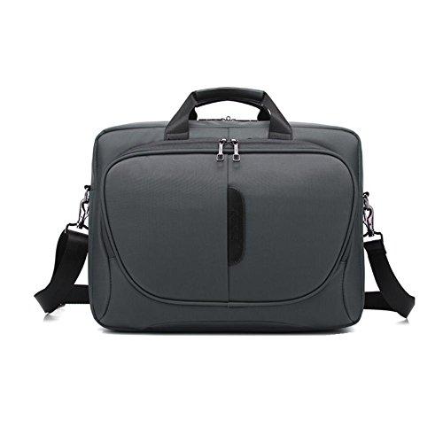 Hommes Classique 15,6 pouces Antichoc Sac d'ordinateur portable Imperméable Nylon Tissu Sac à bandoulière Sac à main