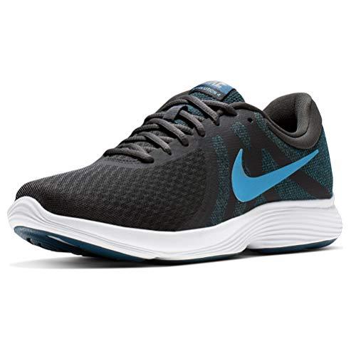 Nike Herren Revolution 4 EU Laufschuhe, Schwarz (Off Noir/Lt Current Blue Force/MTLC Pewter/White 021), 48 1/2