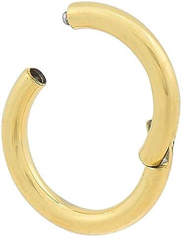 PIERCINGLINE® Chirurgenstahl Segmentring Clicker vergoldet 1,2 x 7 mm